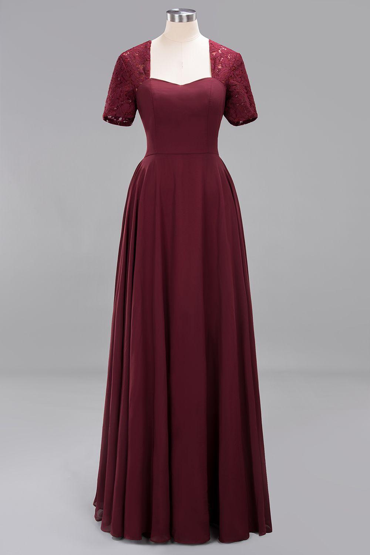 Fashion Brautjungfernkleider Lang Günstig Weinrote Kleider
