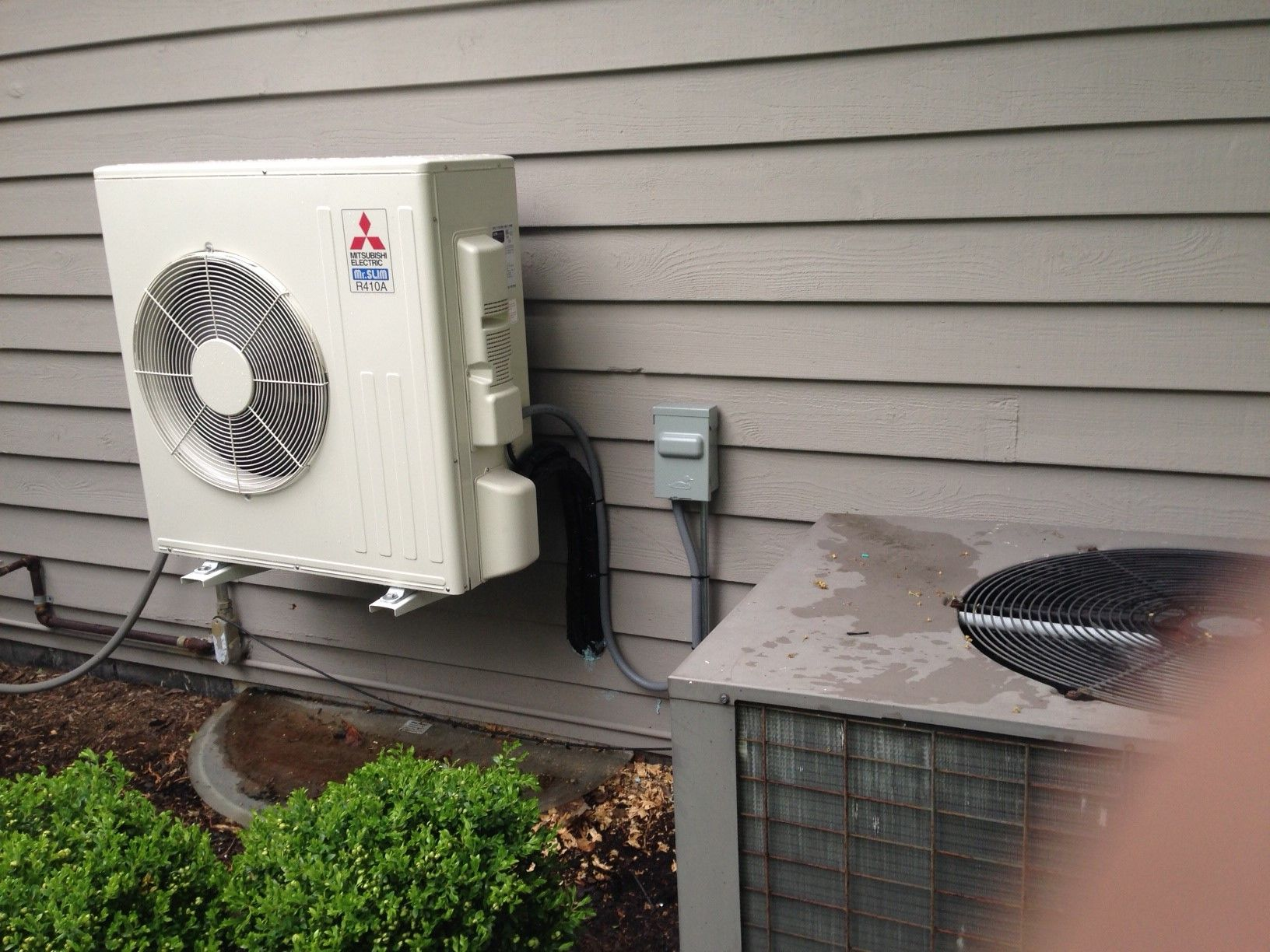 Diy Air Conditioner No Electricity Mitsubishi Ductless Condenser Replacing An Old And