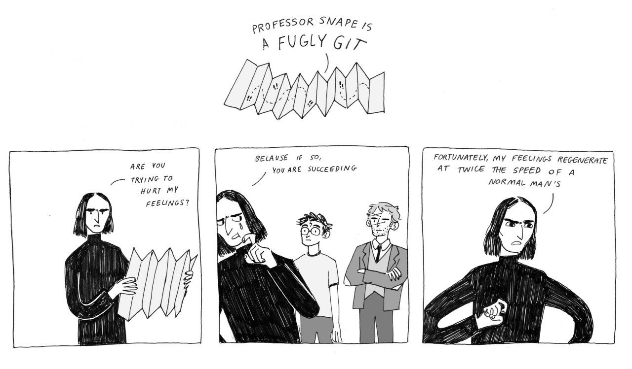 Harry Potter + The Office The marauder's map hurt all of Snape's