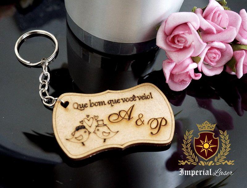0c34a7be1c6fb Lindos chaveiros em mdf para lembrancinha de casamento ou noivado!!      Chaveiro vai embalado um a um