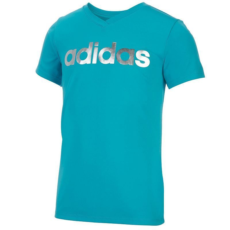 "Girls 7-16 Adidas Foil ""adidas"" Graphic Tee,"