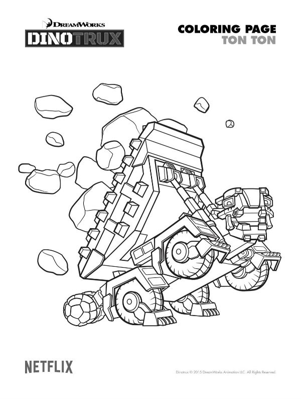 Free Printable Dinotrux Ton Ton Coloring Page Birthday Ideas