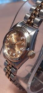 nice ROLEX OYSTER PERPETUAL Girls 14k/SS GOLD Enjoy WITH DIAMOND DIAL 1972 Check more at http://rover.ebay.com/rover/1/711-53200-19255-0/1?ff3=2&toolid=10039&campid=5336869053&item=181792358727&vectorid=229466