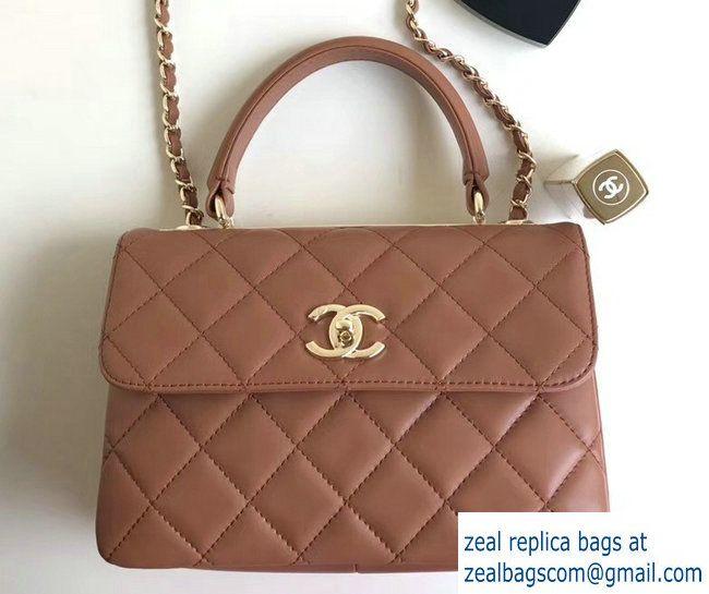Chanel Trendy CC Small Flap Top Handle Bag A92236 Caramel Gold 2017 ... 07b5e4417480a