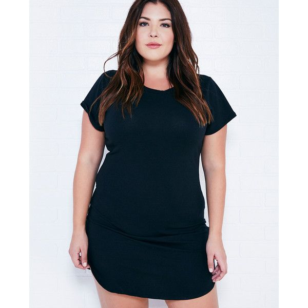 Zenobia Short Sleeve T-Shirt Dress ($20) ❤ liked on Polyvore ...