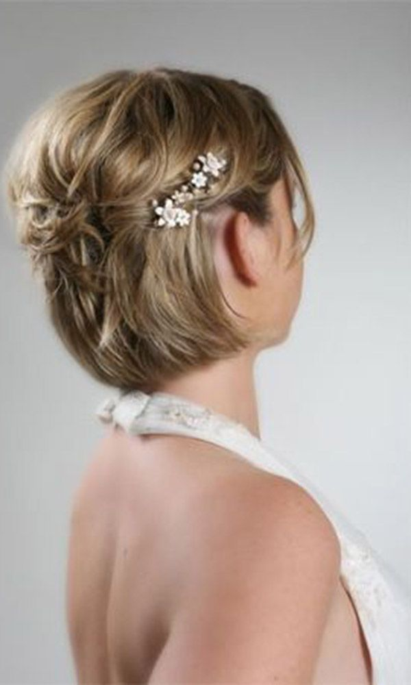 48 Trendiest Short Wedding Hairstyle Ideas Wedding Forward Short Wedding Hair Short Hair Styles Short Hair Styles 2014