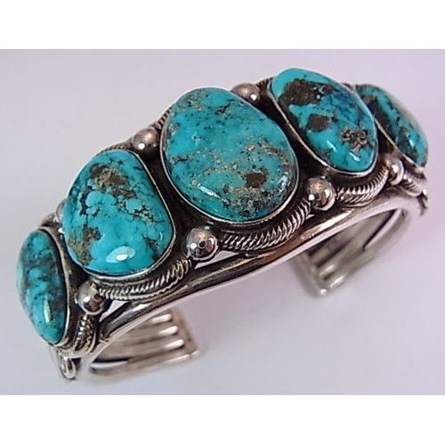 Terry Martinez Turquoise and silver cuff bracelet