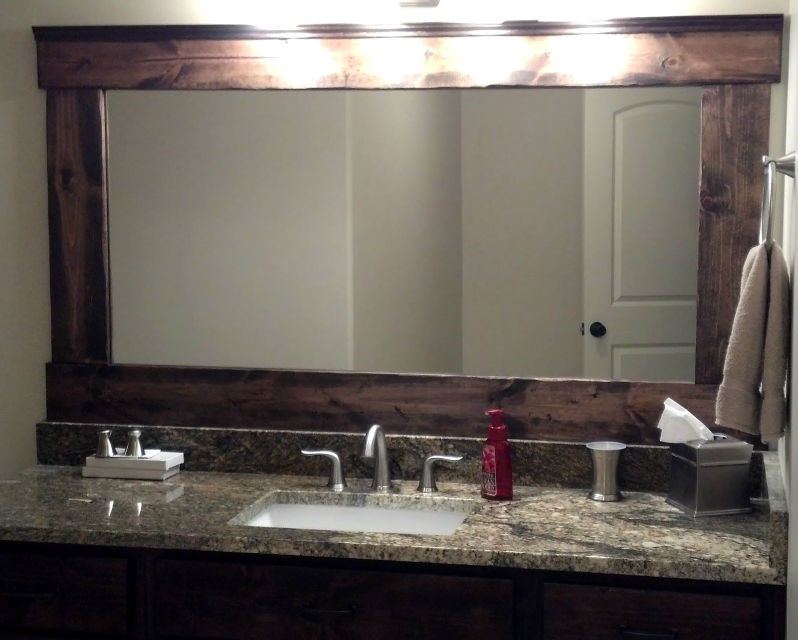 Down To Earth Style 1x6 Pine Distressed Sanded Stained Mirror Cut Size 40 Wood Remaining Supplies 30 Total 70