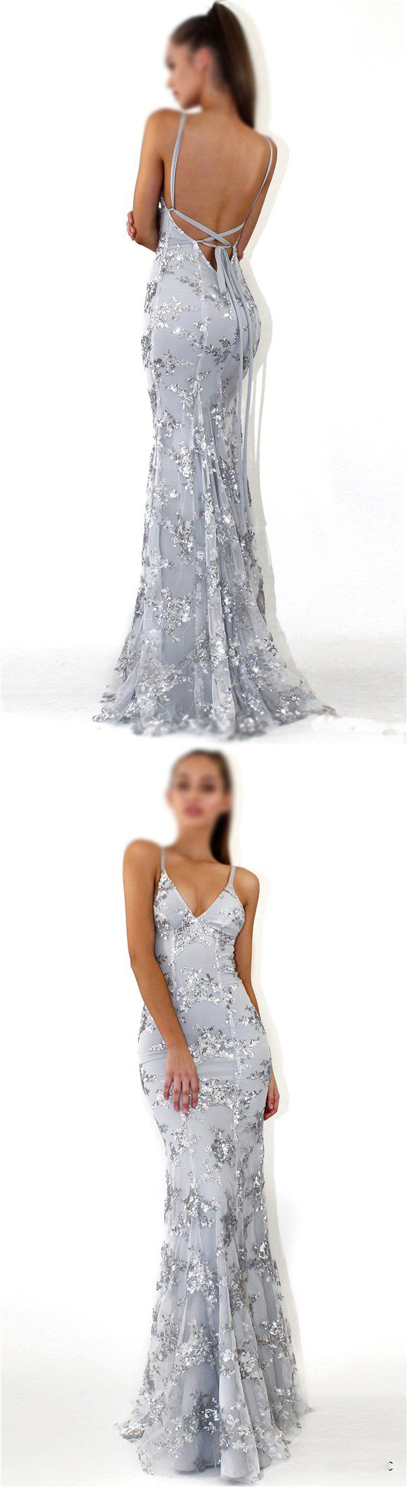 7391abbddc8 Sequin Silver Sparkly Mermaid Popular Newest Prom Dresses, Fashion Gown,  Evening Dresses, PD0305