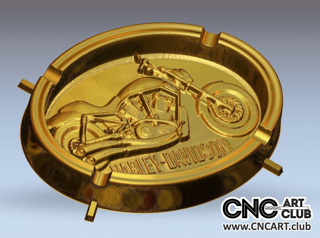 3D 70001 Harley Davidson 3D STL Ashtray File For CNC Cnc