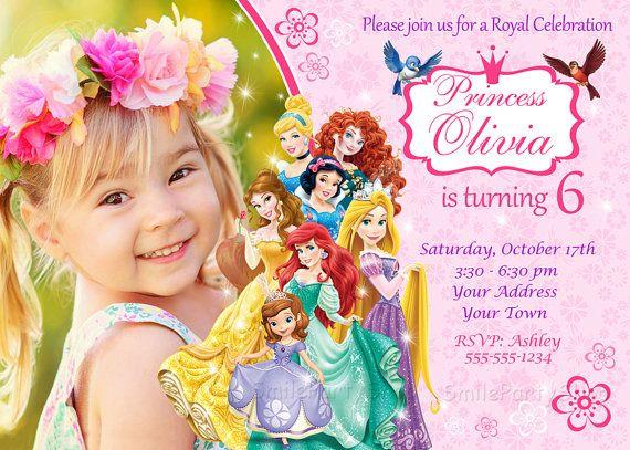 Disney Princess Invitation Birthday