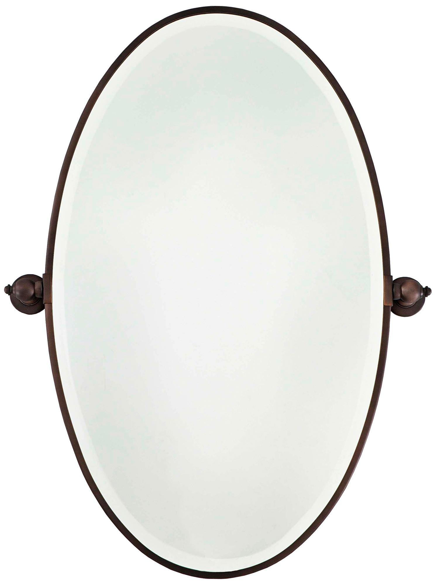 Minka 36 High Oval Brushed Bronze Bathroom Wall Mirror U8973 Lamps Plus Mirror Wall Bathroom Bronze Bathroom Traditional Bathroom Mirrors [ 2000 x 1491 Pixel ]