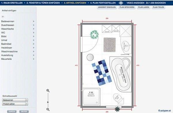 badezimmerplaner online 3d badplaner online polypex palme | Bad ...