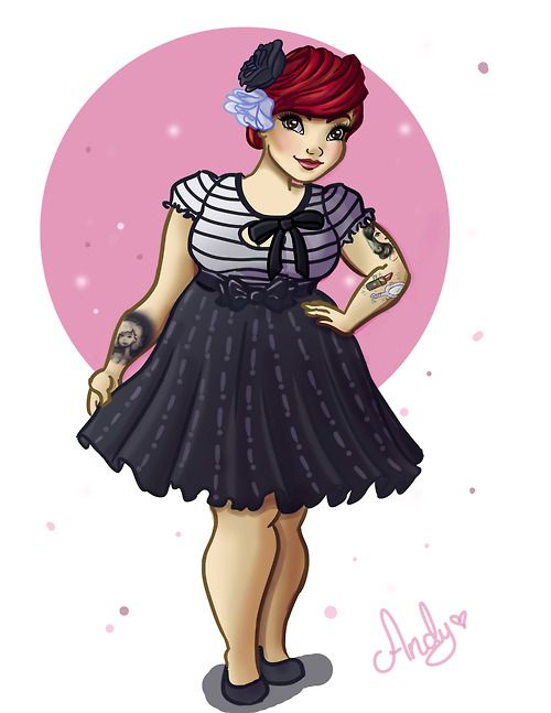 Chubby pin up tattoo
