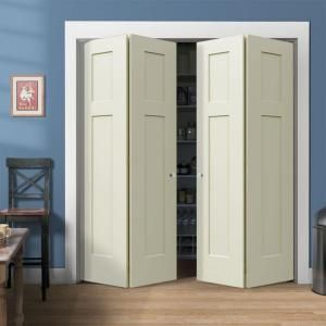 Jeld Wen Craftsman Smooth 3 Panel Painted Molded Interior Bifold Closet Door Thdjw160200106 At The Home Depot