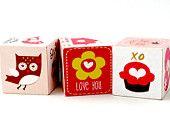 Woodland Love Baby Blocks