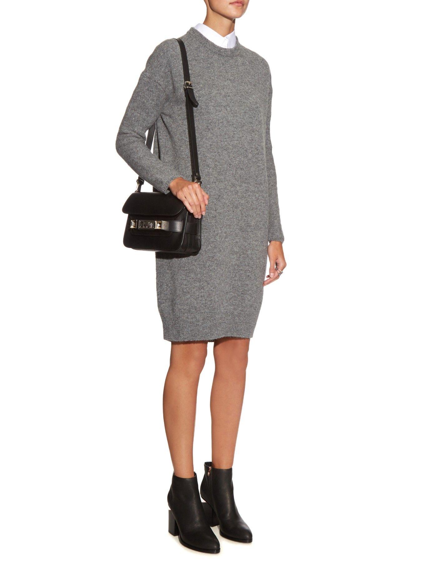 Phebe long-sleeved wool-knit dress | Acne Studios | MATCHESFASHION.COM UK