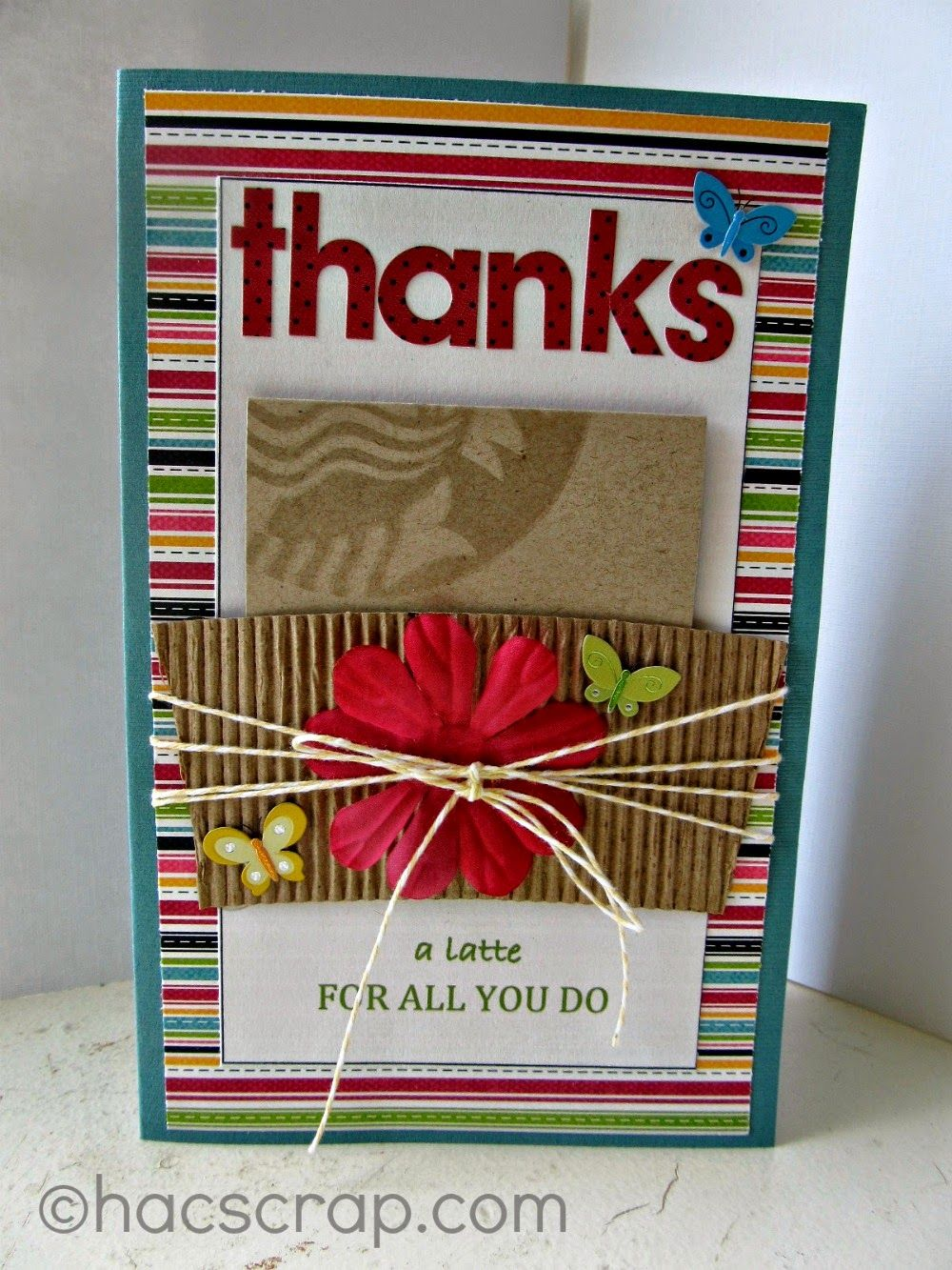 My Scraps   Thanks a Latte Gift Card Holder Card - perfect for upcoming Teacher Appreciation Day. Thank your coaches, teachers and administrative assistants too!