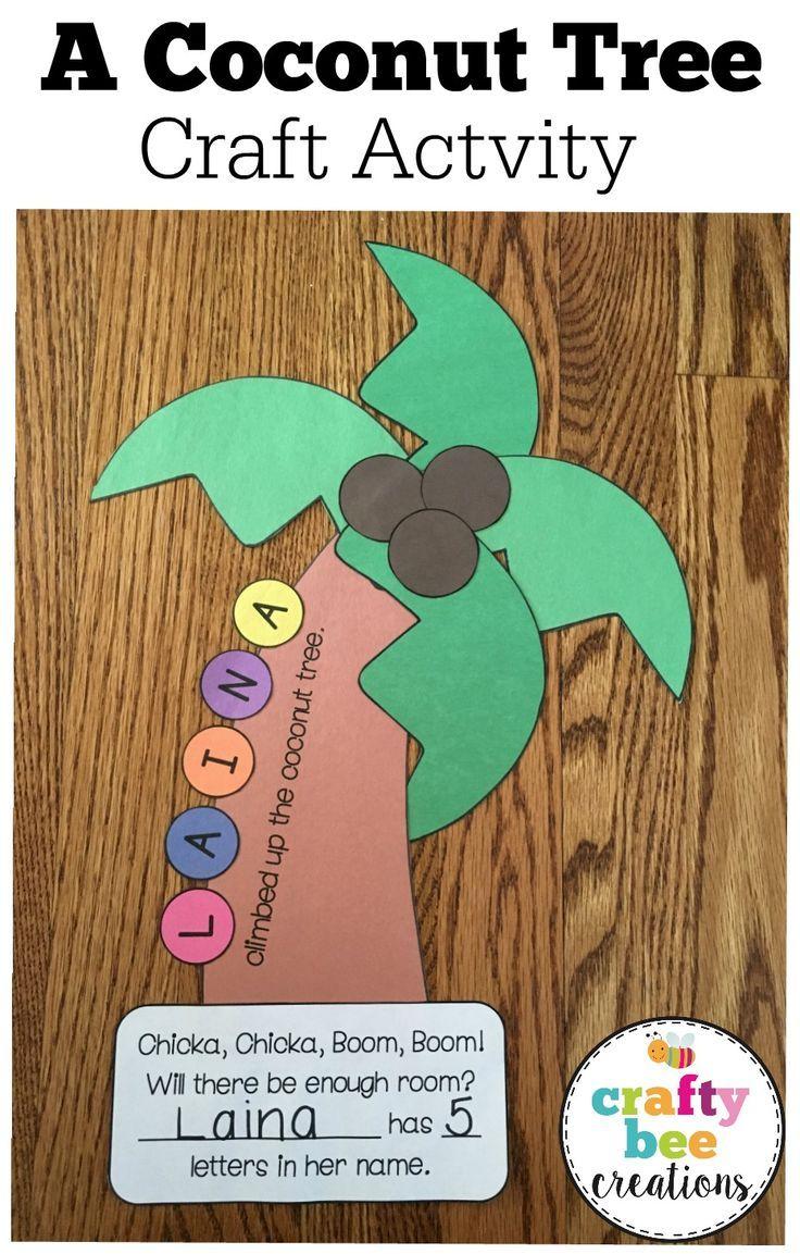 A Coconut Tree Craft | Chika chika boom boom fun | Pinterest ...