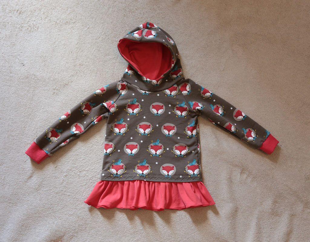 Little girls fox hoodie #sewingforkids #foxprint #hoodie #sewingpattern
