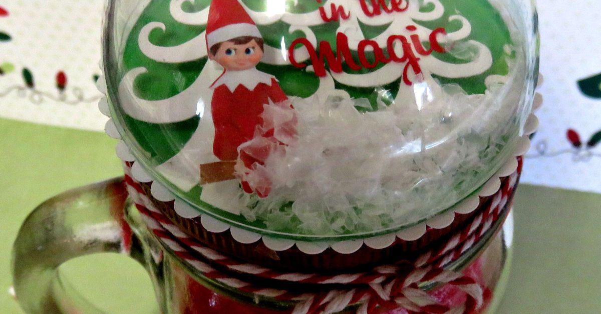 DIY Snow Globe Mason Jar Topper Doubles as an Ornament