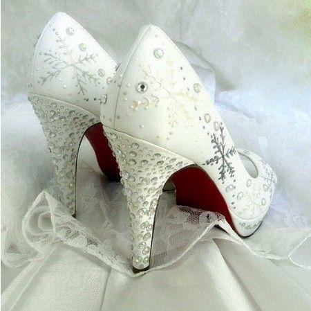 Wedding Shoes 2014 Wedding Shoe Winter Wedding Shoes Snowflake Shoes Wedding Shoes