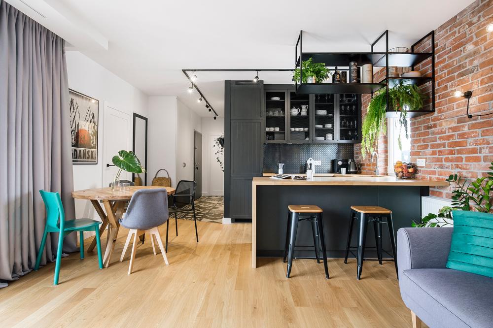 Soft Loft W Gdansku Architekt Wnetrz Gdynia Gdansk Sopot Loft Interiors Loft Design Kitchen Inspiration Design