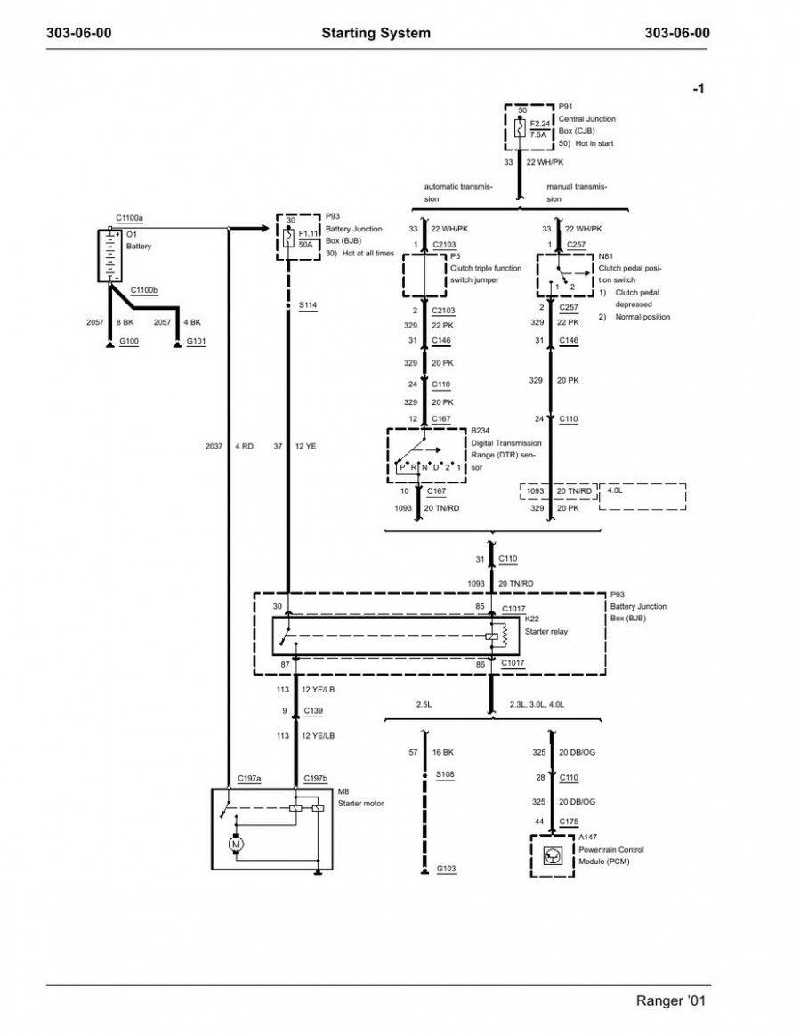 Ford Ranger Starter Wiring Diagram : ranger, starter, wiring, diagram, Engine, Wiring, Diagram, Ranger, Gearbox, Electrical, Diagram,