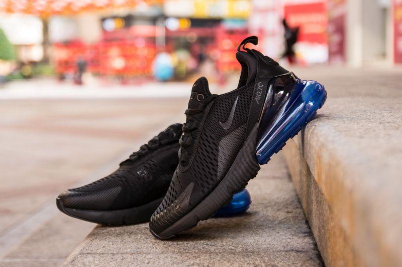 Nike Air Max 270 AH8050-009 Black Blue Sneaker for Sale-17  c707337e8