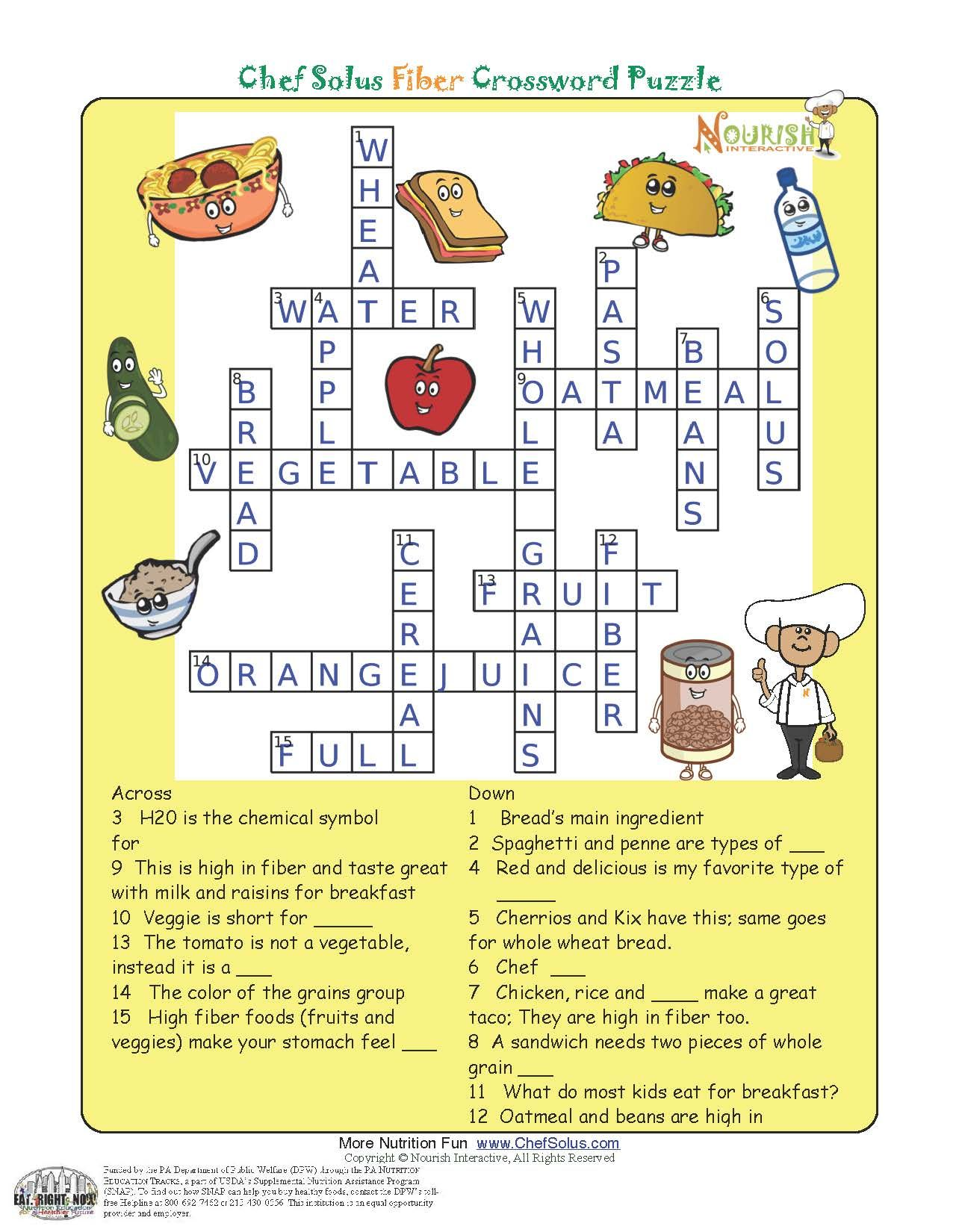 Nutrition Puzzles National Nutrition Month
