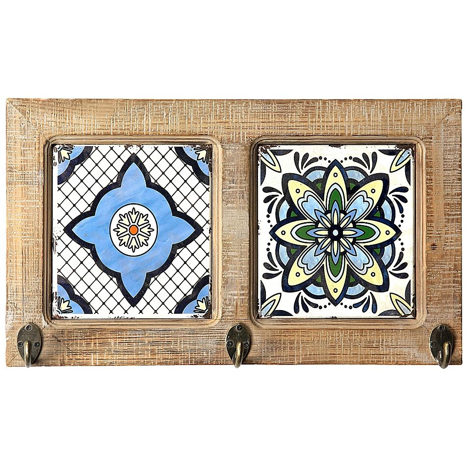 Double Tile Wall Mount Hook Brown Wall Tiles Wall Mount Decorative Ceramic Tile