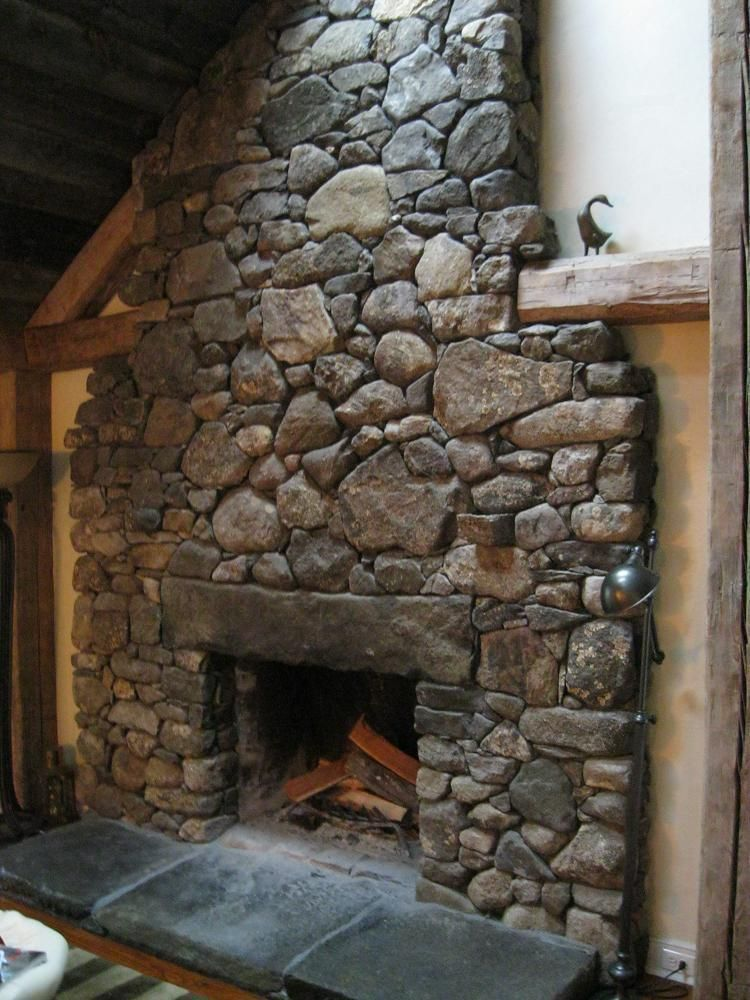 Fieldstone Fireplace With Granite Lintel Hearth Haunted House