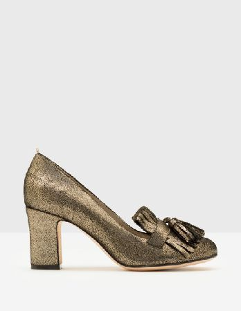 dcb85d1d89b  Boden Pippa Heeled Loafers Antique Gold Crackle  Scientific fact  nobody  can resist tassels