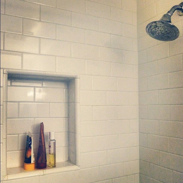A Much Needed Shower Insert And Wanted Subway Tile Bathroom Renovation Flickr