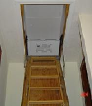 Pull Down Ladder Insulated Cover 22x54 R 50 Stairs Covering Fiberglass Insulation Attic Renovation