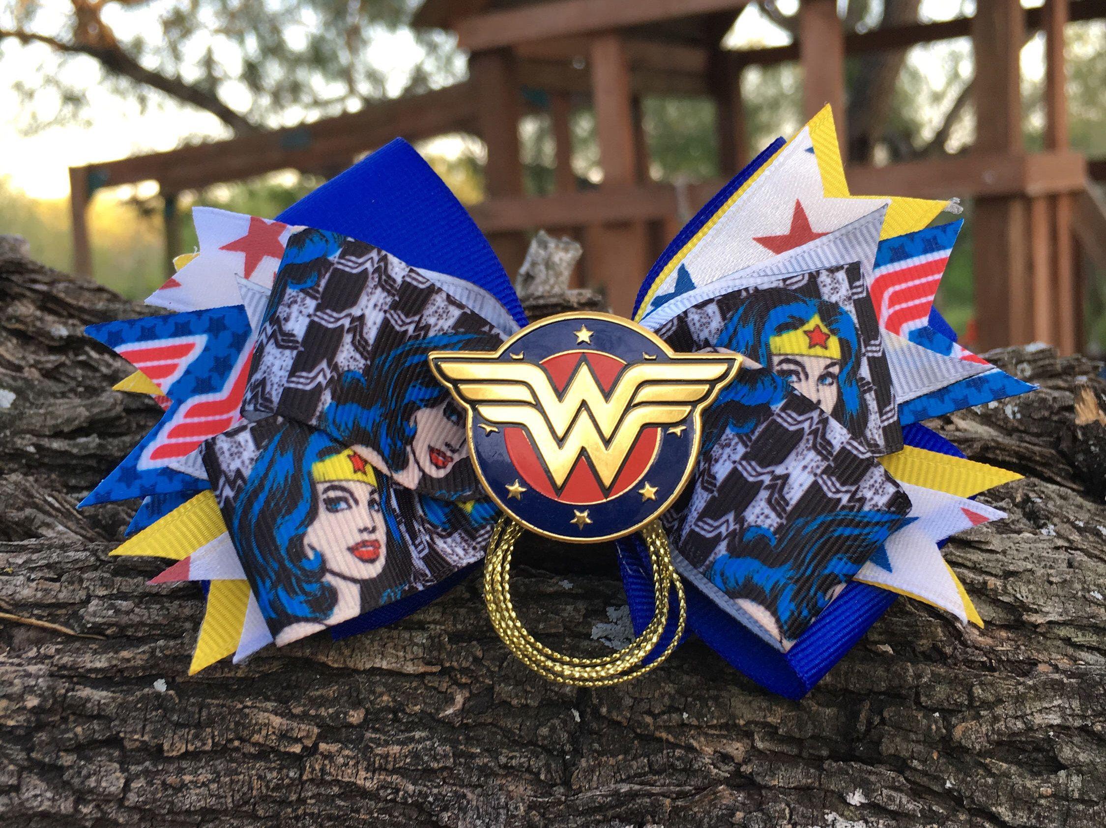 wonderwoman hair bow superhero