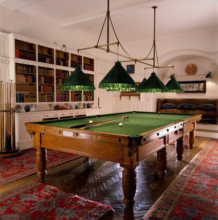 Billiard Room At Standen Oldschool But Still Cool Ha Teren - Old school pool table