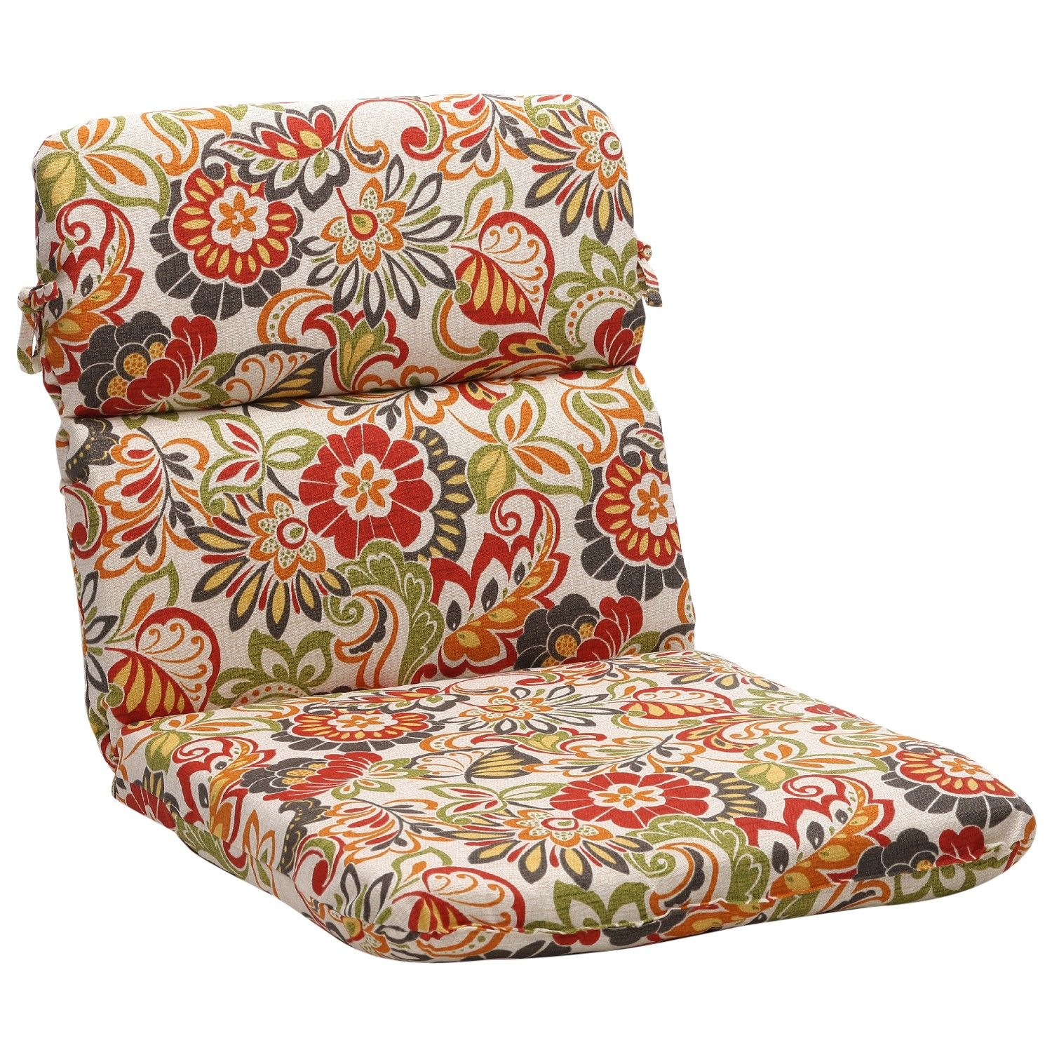 Zoe Multicolor Rounded Chair Cushion Patio cushions