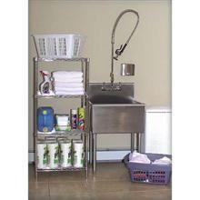 Heavy Gauge Stainless Steel Utility Laundry Room Sink
