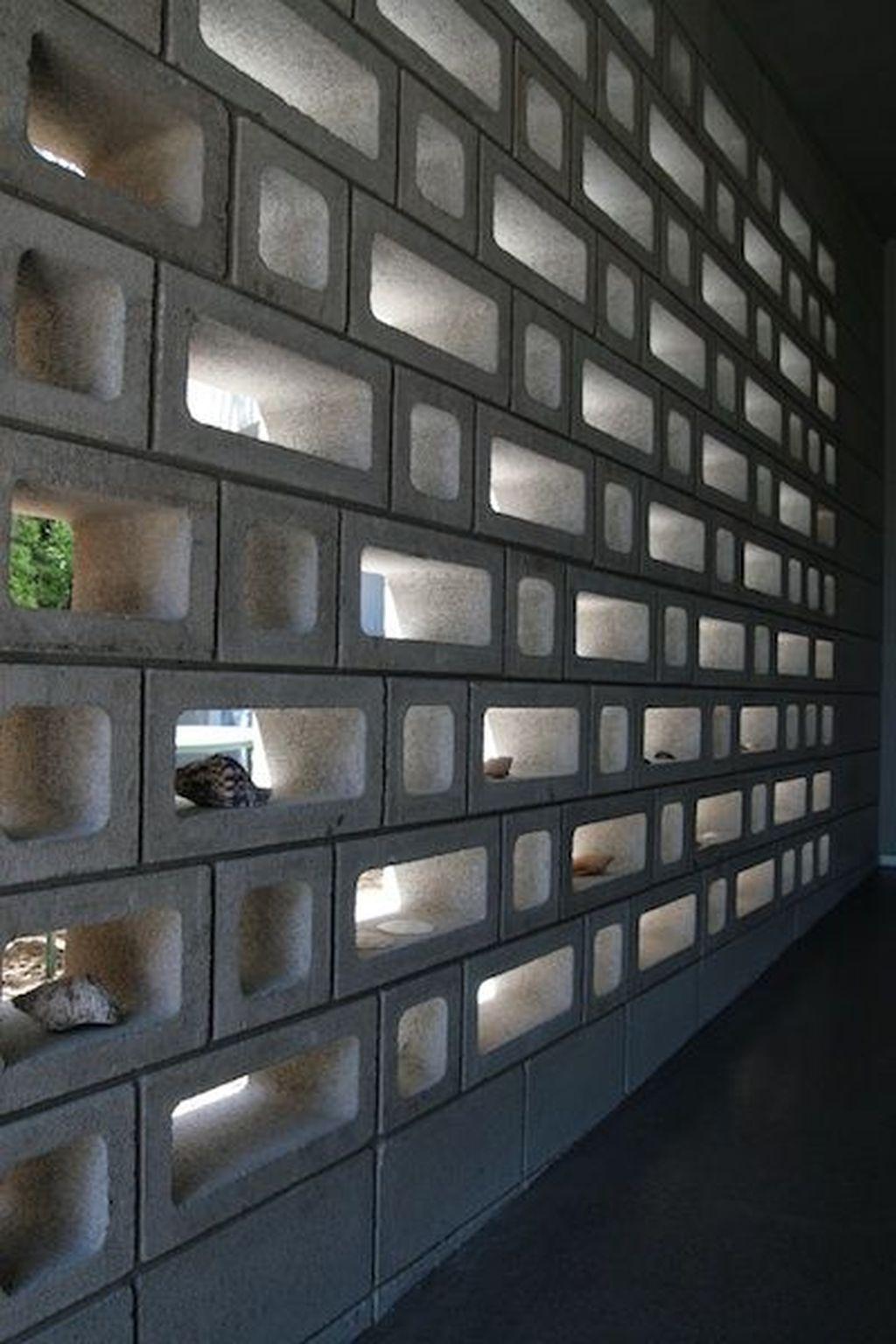 33 Fancy Breeze Block Wall Backyard Ideas For Your Inspiration In 2020 Decorative Concrete Blocks Concrete Block Walls Breeze Block Wall