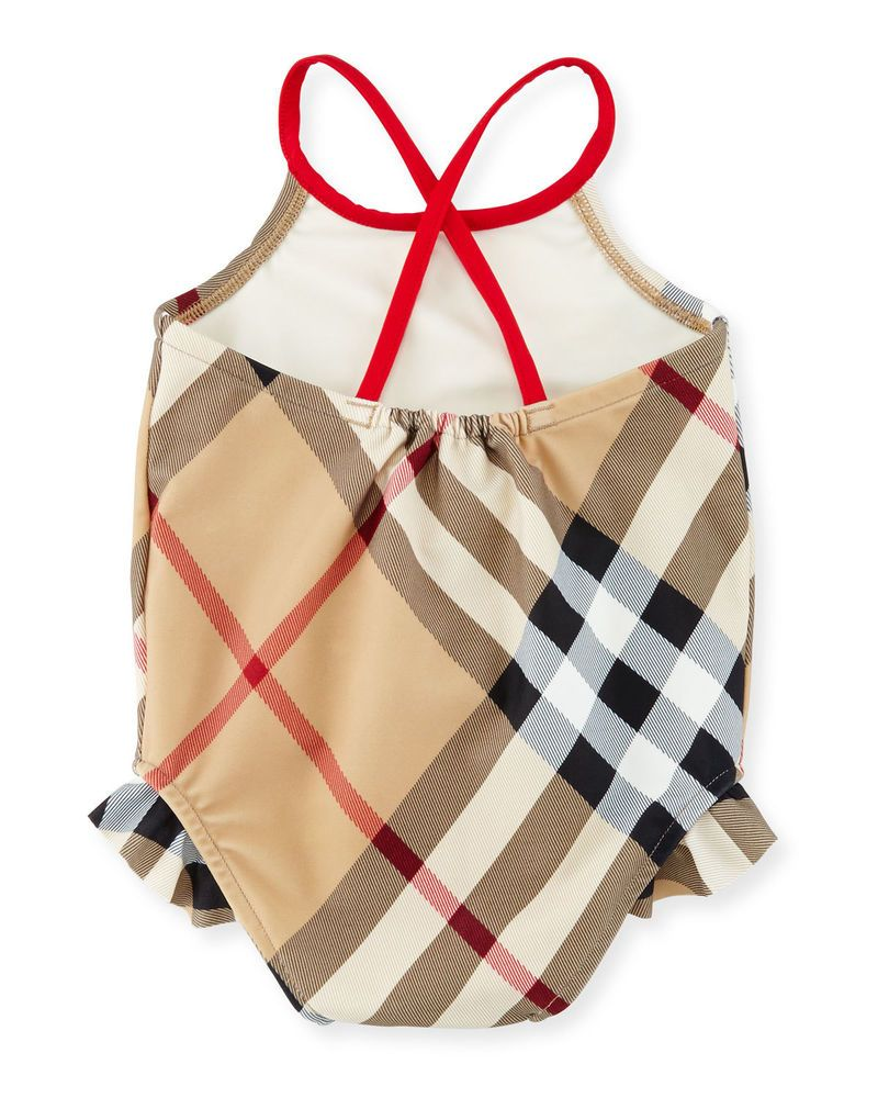 dde095ec260 Burberry Lundy Check One-Piece Swimsuit, New Classic Size 12 months # Burberry #OnePiece