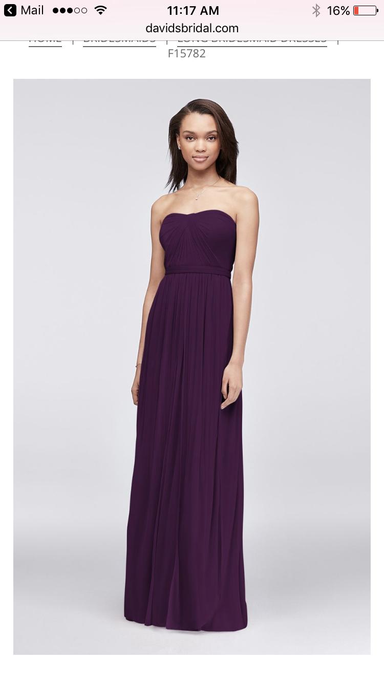 Davids bridal plum bridesmaid dresses | dress | Pinterest | Plum ...