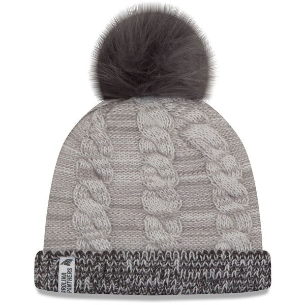 ba75b110911775 Women's Carolina Panthers New Era Gray/Graphite Cozy Team Cuffed Knit Hat