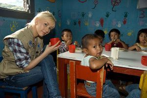 Christina Aguilera is a WFP Ambassador Against Hunger helping to Fill the Cup