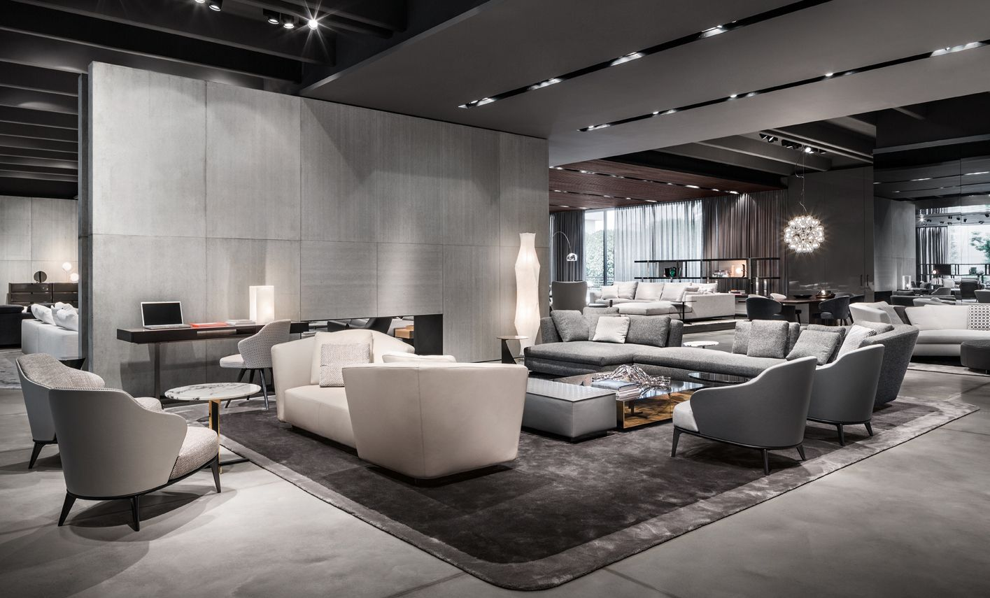 Furniture Design News the minotti stand at salone in milan. this just isn't a stand