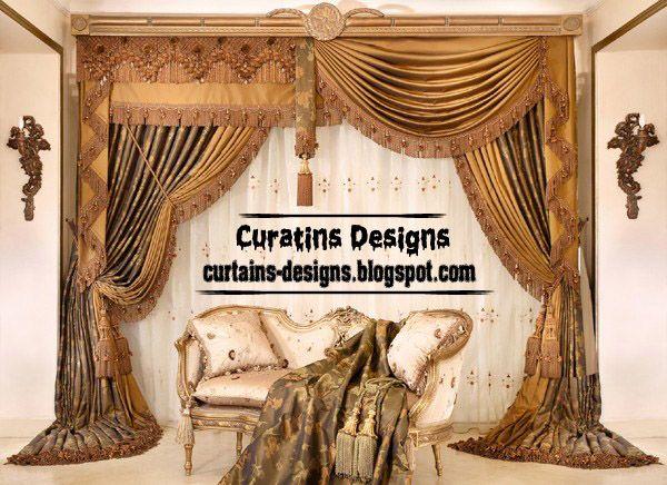 Creative Drapes Curtain Design For Luxury Living Room Luxury