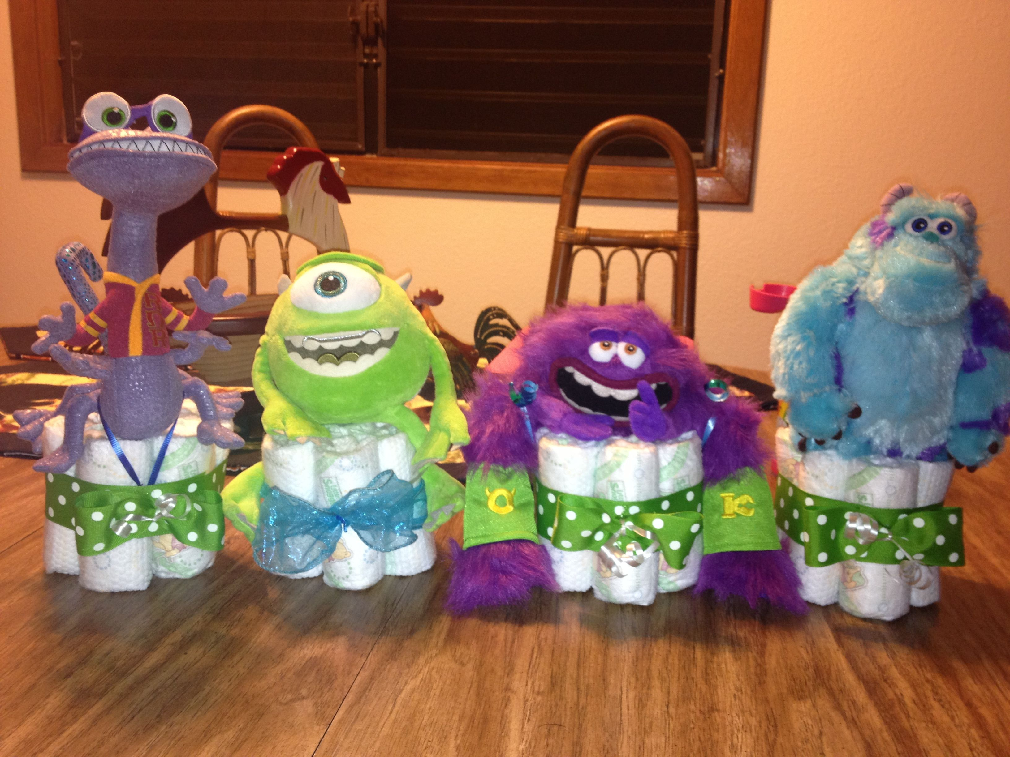 Monster Inc Baby Shower Decorations Monsters Inc Baby Shower Centerpiece Parties Pinterest