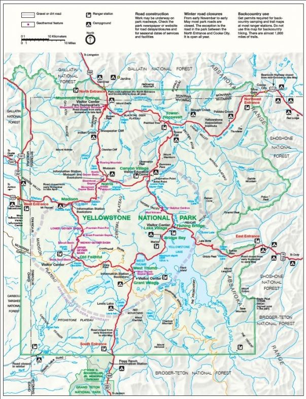 Yellowstone National Park Map | Maps - Jackson Hole in 2019 ... on