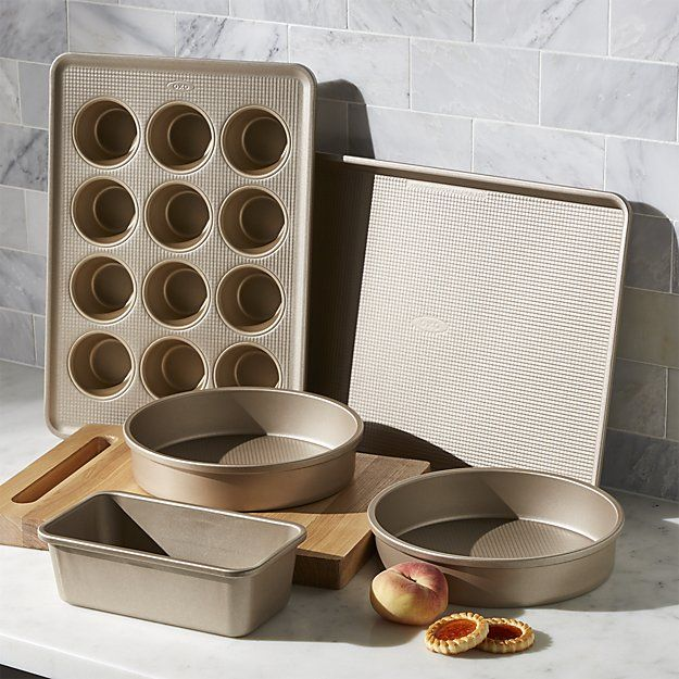 Oxo Pro Non Stick 5 Piece Bakeware Set Crate And Barrel With