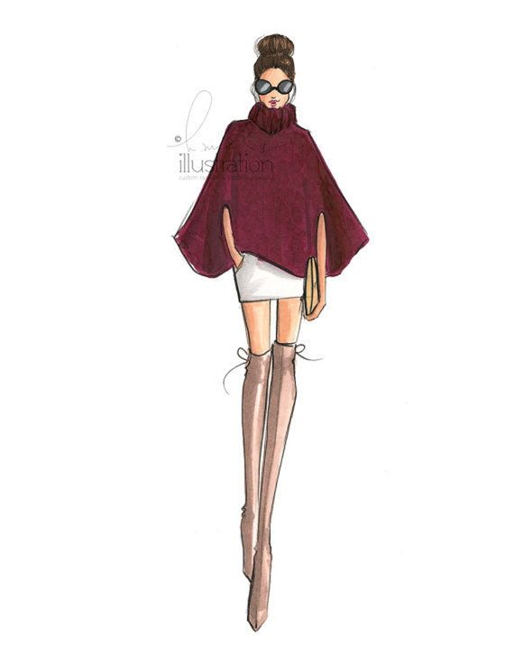 Caped (Fashion Illustration Print)